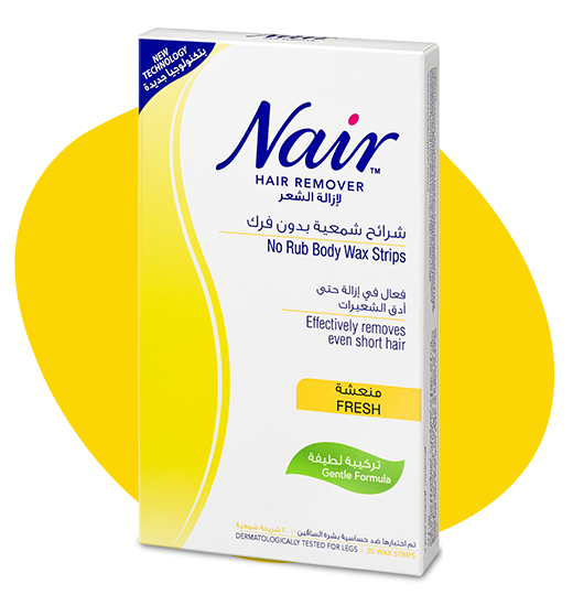 NAIR™ FRESH NO RUB BODY WAX STRIPS